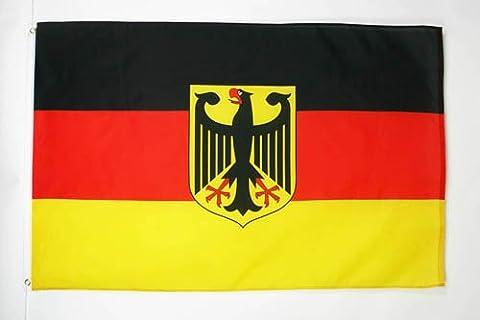 DRAPEAU ALLEMAGNE AVEC AIGLE 250x150cm - GRAND DRAPEAU ALLEMAND 150 x 250 cm - AZ FLAG