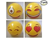 Emoji inflable pelota de playa al aire libre de la diversión del deporte de la bola del juguete、2 PCS
