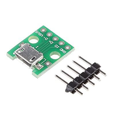 Baoblaze MICRO USB to DIP Adapter Pin Female Connector B Type Pcb Converter