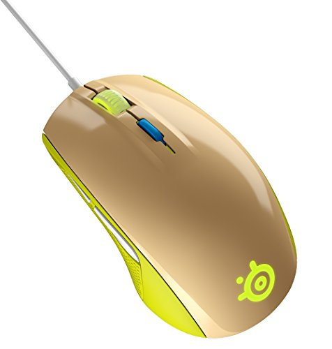STEELSERIES RIVAL 100   RATON OPTICO DE JUEGO  ILUMINACION RGB  6 BOTONES  GESTION DE SOFTWARE  (PC / MAC)    COLOR VERDE GAIA