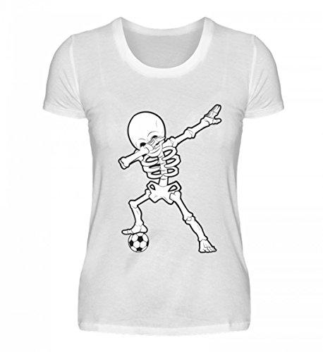 Hochwertiges Damenshirt - Dabbing Skelett mit Fussball Dab Gerippe Tanz Geschenk