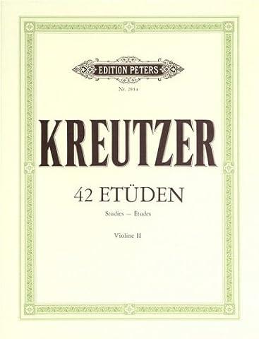 Kreutzer: 42 Studies/Caprices (2nd Violin Part)