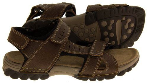 Footwear Studio, Sandali uomo (Brown (Single Strap at Front))