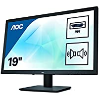 """AOC E975SWDA - Monitor de 18,5"""" (VGA, DVI, altavoces, Flicker-Free), color negro"""