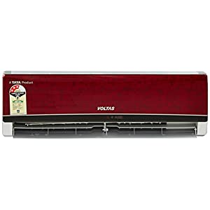 Voltas 1 Ton 3 Star (2018) Split AC (125 EYR/123ZZY-IMR, Wine Red)