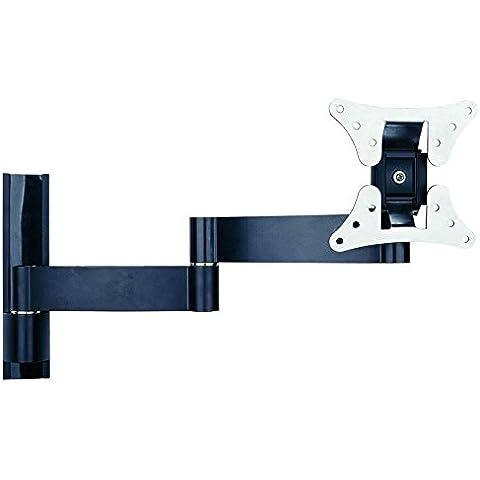 Monitor Wandhalterung Alu schwarz ausziehbar von 7,3cm bis 41cm 12° neigbar 180° drehbar für LG 34