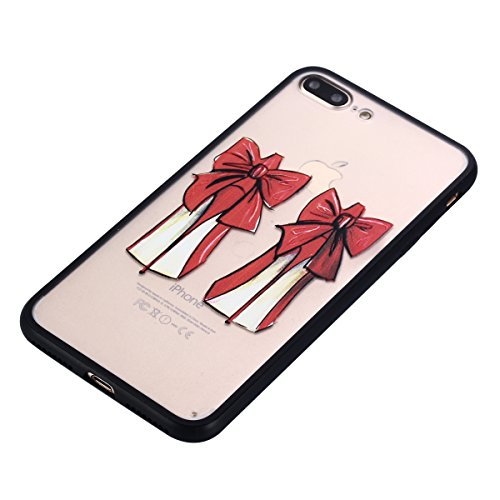 iPhone 7 Plus Hülle, Voguecase Silikon Schutzhülle / Case / Cover / Hülle / TPU Gel Skin für Apple iPhone 7 Plus 5.5(Schmetterling liebt Blumen 07) + Gratis Universal Eingabestift Rot Schuhe mit hohen Absätzen 03