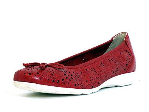 Caprice Donna Ballerine rosso, (RED DEER) 9-9-22101-28/551 RED DEER