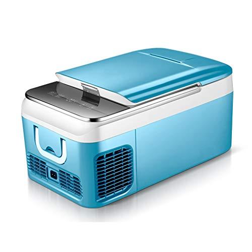 LRHYG 18L Mini Kühlschrank Für Auto,Tragbar Kühlbox Kompressor-Kühlung, 2 Farben 580 X 280 X 320 Mm (Color : Blue, Size : 18L)