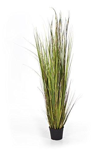artplants - Kunst-Seychellengras SATRIO, 815 Halme, grün-gelb-braun, 150 cm - Grasbüschel künstlich/Deko Pflanze