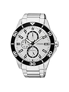 Citizen Herren-Armbanduhr XL Analog Quarz Edelstahl AP4030-57A