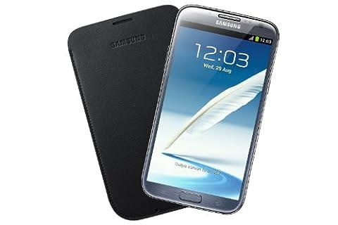 Samsung Original Tasche in Lederoptik EFC-1J9LBEGSTD (kompatibel mit Galaxy Note 2 / Note 2 LTE) in navy