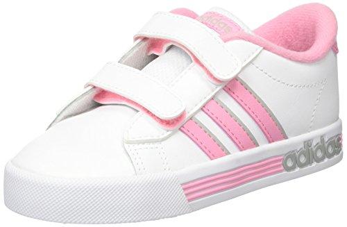adidas Daily Team Inf, Chaussures de Fitness Mixte Enfant Weiß (Weiß/Pink/Schwarz)