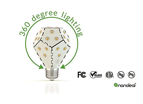 Nanoleaf BLOOM B22 1200WN 360 LED 10W 1200 Lumen Light Bulb, White Pack of 4