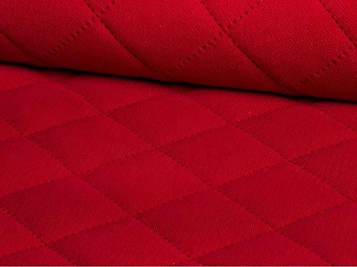 Lederkonzept Alcala Gesteppt Stoff Meterware Wildleder-Imitat Kaschiert Karo Polsterstoff Möbelstoff 64 Rot - Polyester Wildleder Stuhl
