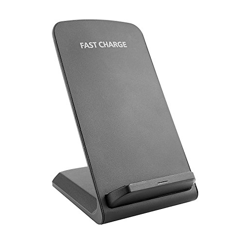 Fast Wireless Charger, Fast Qi Wireless Charger Stand for Samsung S8/S8 Plus/Note 8/S7/S7 Edge,S6 Edge +,Note 5,Standard Charge for iPhone 8/8 Plus, iPhone X