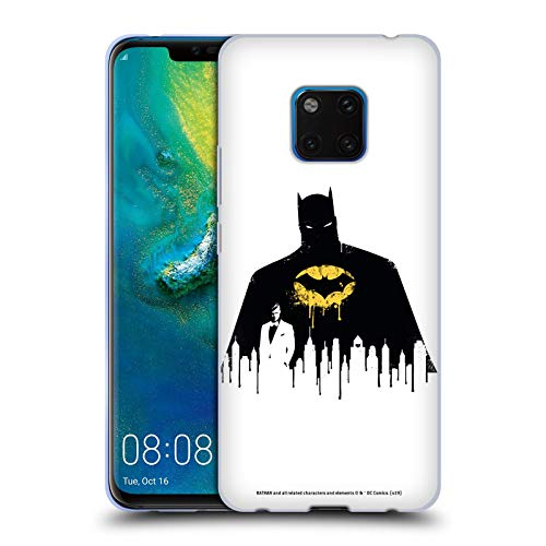 Stadtbild 1 T-shirt (Head Case Designs Offizielle Batman DC Comics Alter Ego Stadtbild 2 Dualitaet Soft Gel Huelle kompatibel mit Huawei Mate 20 Pro)
