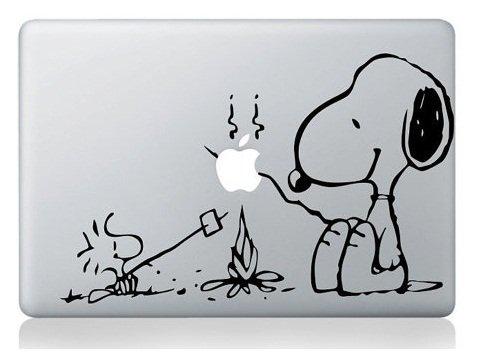 Snoopy Fire par i-Sticker : Stickers autocollant MacBook Pro Air décoration ordinateur...