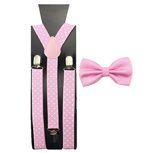 Bow Boys Tie Hosenträger (Bodhi2000 Jungen Hosenträger Gr. One size, rose)