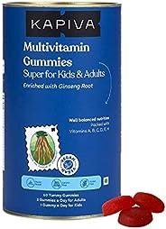 Kapiva Multivitamin Gummies with 15 Essential Vitamins and Minerals | Antioxidant-Rich, Ayurveda Infused - Vit