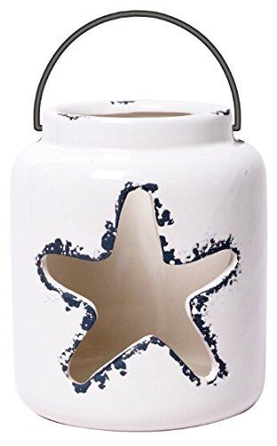 Hosley Keramik Teelicht cokay LTD 14cm Hoch. Ideal FÜR Hochzeit, Reiki, Spa, Kerze Gärten. P2