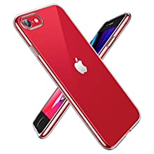 EONO by Amazon, Cover per iPhone SE, Cover per iPhone 8/iPhone 7 in Poliuretano Resistente all'Ingiallimento [1.1 mm di Spessore] [Angoli Anti Urto] Cover in Silicone Flessibile, Trasparente