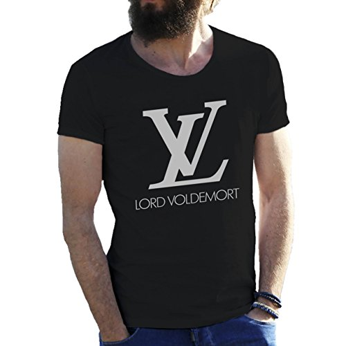 Harry Potter LV Lord Voldemort Negro Camiseta para hombre X Large