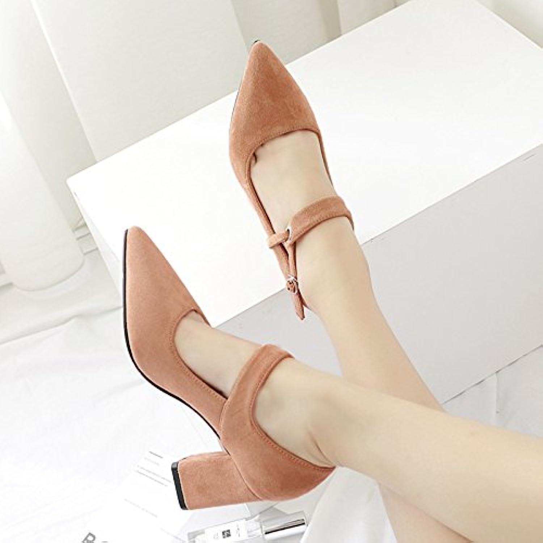 8dee5ab14eca1d avec avec avec des talons frette de pied léger satin audacieuses style  unique fille de pointe de chaussures, une paire de kaki, 35 b07bnfght4  parent ...