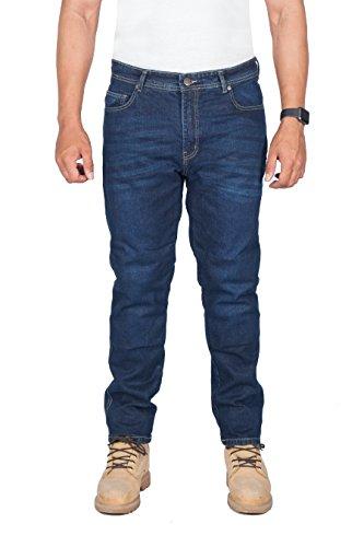 Preisvergleich Produktbild HB MotorradHose - Motorrad DuPont Kevlar ® Jeans. Herren-Straight Fit, blau Motorradhose mit CE-Protektoren, 30W x 30L, Blau
