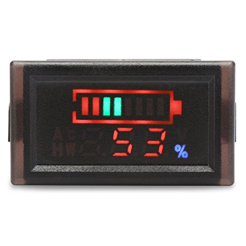 Wasserdichte DC 6-120V Digital Batterie-Spannungs-Messinstrument-Leistungsmesser, YB28VE-W 2 Wires Energien-Spannungs-Monitor für elektrisches Fahrzeug, Energien-Anzeigen-Voltmeter Geeignet für Blei-Säure / NI-MH / Lithium / Polymer-Batterie -