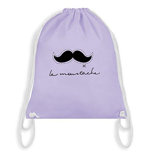 (Hipster - le moustache - Unisize - Pastell Lila - WM110 - Turnbeutel & Gym Bag)