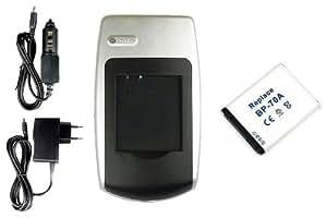 Chargeur + Batterie EA-BP70A pour Samsung PL101, PL120, PL121, PL170, PL171, PL200