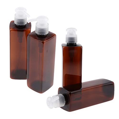 CUTICATE 4 Stücke Leere Pumpflaschen Nachfüllbare Behälter Kunststoff Für Shampoo Und Conditioner, Hand Flüssigseife, Lotion, Massageöle (250 Ml) -