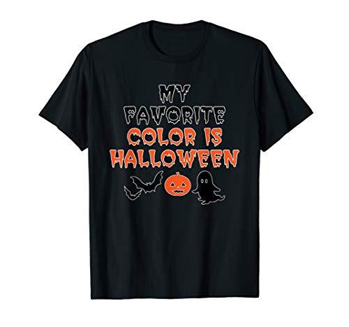 Meine Lieblingsfarbe ist Halloween Niedlicher Kürbis Geist T-Shirt (Halloween-t-shirts Frauen Niedliche Für)