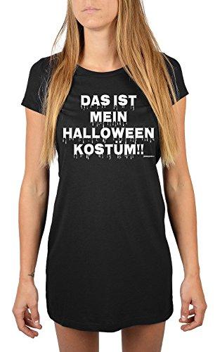 Lang geschnittenes T-Shirt für Frauen Das ist mein Halloween Kostüm!! Mädchen Schlafanzug Pyjama für Jugendliche Geschenkidee Sommerkleid (Meine Mädchen Mama Kostüm)