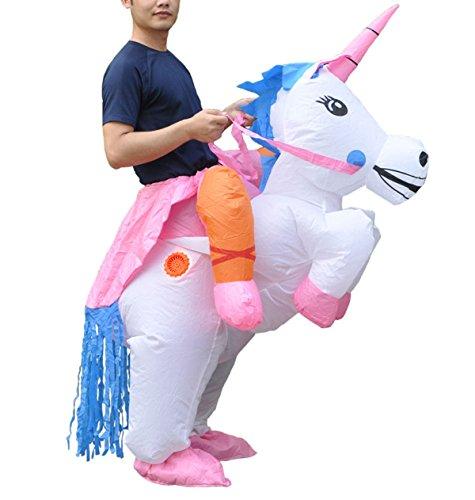 Halloween erwachsene aufblasbare Fahrt Einhorn-Partei-Kleid-Klage-Fantasie-Kostüm