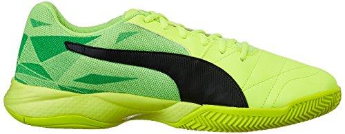 Puma Veloz Indoor Iii Jr, Scarpe da Calcio Unisex – Bambini Giallo (Safety Yellow-puma Black-green Gecko 05)