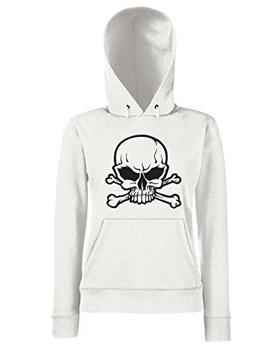 T-Shirtshock - Sweats a capuche Femme FUN0477 3940 skull decal sticker02 53024 Blanc