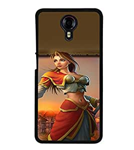 PRINTVISA Warrior Girl Case Cover for Micromax Canvas Xpress 2 E313::Micromax Canvas Xpress 2 (2nd Gen)