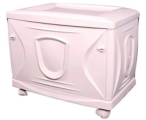 Vachann Ups - Vg Plastic Cabinet - 61 X 16 X 120 Cm, White, Pack Of 3