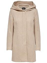 ONLY Damen Mantel Jacke onlSEDONA LIGHT COAT Parka Übergang Herbst (M, beige (Etherea))