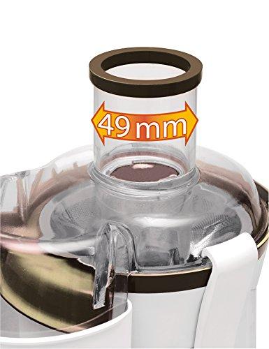 Moulinex Frutelia JU350B39 Licuadora, tubo ancho de 5 cm, filtro de acero inoxidable 400 W, plástico, blanco/negro