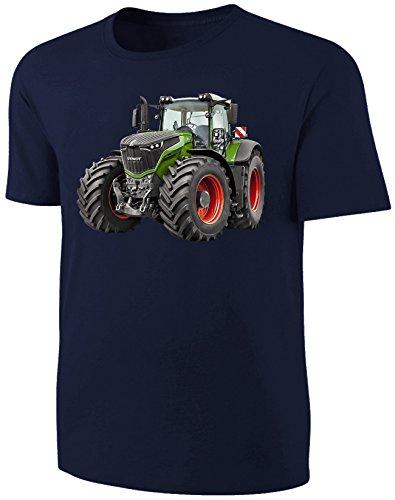Traktor Kinder T-Shirt Fendt Schlepper Shirt Blau Size 116