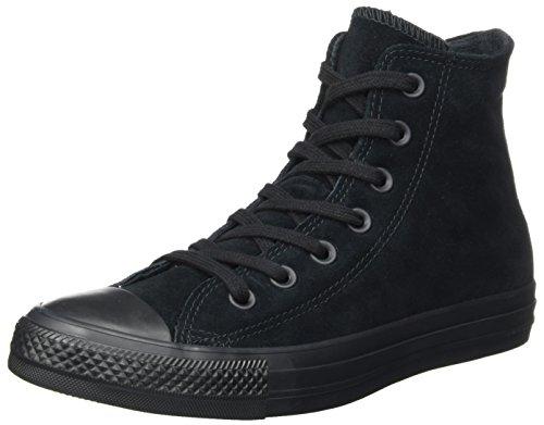 Taylor Leder Schwarz High-top (Converse Unisex-Erwachsene CTAS Hi Black Hohe Sneaker, Schwarz (Black), 46 EU)