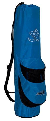 Yogatasche TASHEV OM Yogamattentasche Yoga-Bag Blau & Weiß