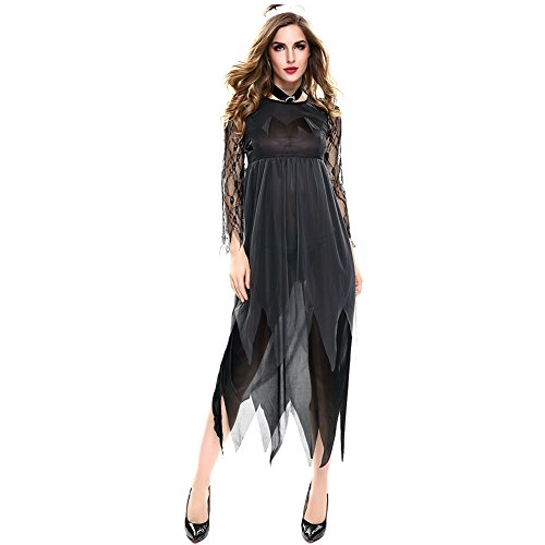 Feicuan Damen Halloween Zombie Dress - Cosplay Kostüm Dead Braut Kleid Masquerade Party