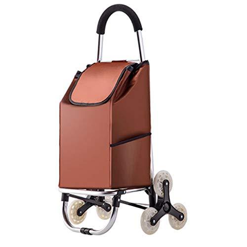 Einkaufen Wagen, faltbar treppe klettern Einkaufen Wagen,isoliert Tasche, Belastung-Lager 30 kg Aluminium Legierung Material 91cm*43cm*38cm-Vier Runden-A
