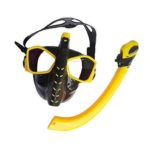 FLHLH Masque de plongée pour Les Enfants,Masque respiratoire de Formation de plongée Flottant, Masque de plongée Anti-buée imperméable en Silicone,loupes de Masque de plongée