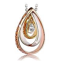 Swarovski Elements Rose Gold Plated 925 Sterling Silver Pendant Necklace JRosee Jewelry JR686