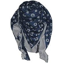 d06ca1dda04ba Trendstyle Schal Tuch Monogramm Groß Blau Grau 140cm Wollmischung !